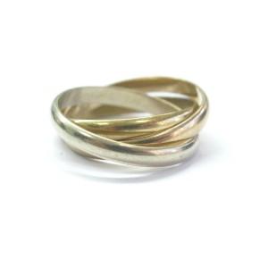 Cartier 18K Multi Tone Gold Trinity Ring
