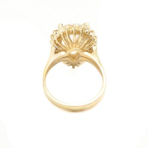 14K Yellow Gold Quartz Switzerlan Ring
