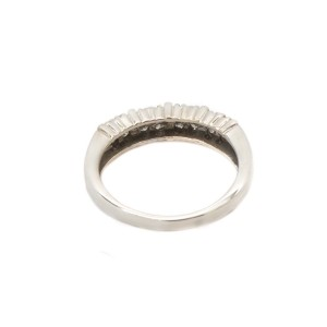 14K White Gold Round Diamond Wedding Band Ring
