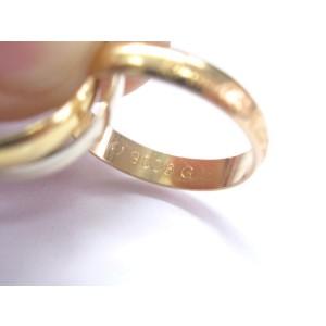 Cartier 18K La Maison Trinity Tri-Color Ring Size 49
