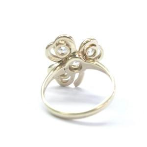 14K Yellow Gold Old European 1.80 ct Diamond 4-Stone Leaf Ring