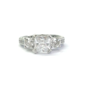 Tacori 950 Platinum Classic Crescent Diamond Engagement Ring