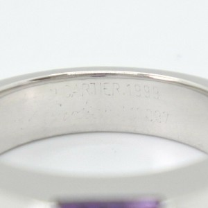 CARTIER 18k white gold/amethyst Tank Ring