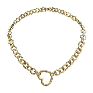 Tiffany & Co. 18KYellow Gold Heart Link Pendant Necklace