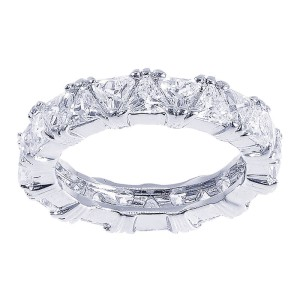 Sterling Silver Trillion Cubic Zirconia Eternity Band
