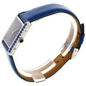 Cartier Argent and Blue Sapphire Womens Watch