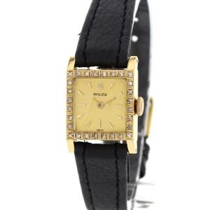 Rolex Diamond Bezel 18K Yellow Gold Womens Watch