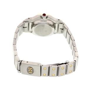 Cartier Santos 18K Yellow Gold & SS Automatic Diamonds Womens Watch