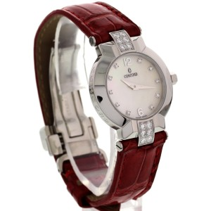 Concord Stainless Steel Mother of Pearl Diamonds Womens Watch