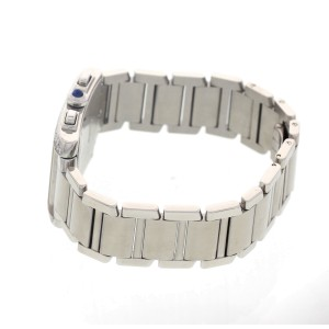 Cartier Tank Francaise 2303 Stainless Steel  Chronograph with Diamonds Mens Watch