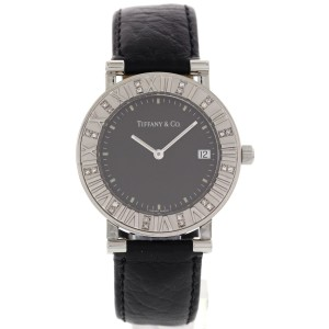 Tiffany & Co. Atlas Stainless Steel Diamonds Womens Watch