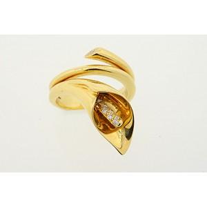 Asprey 18K Yellow Gold & Diamond Ring