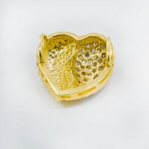 14K Yellow Gold 0.60Ct KSI2 Diamond Heart Pendant