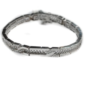 Diamond Tennis Bracelet 2.5 Ct Diamonds 14 K White Gold