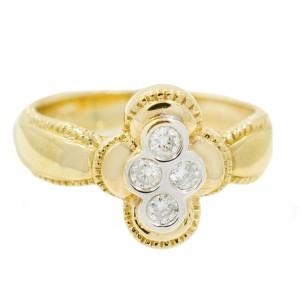Yellow Gold Diamond Ring Size 6.75