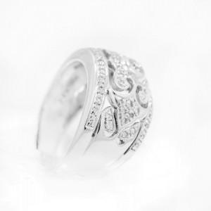 White White Gold Diamond Womens Ring Size 5.75