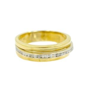 Yellow Gold Diamond Womens Ring Size 9.5