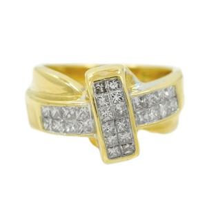Yellow Gold Diamond Womens Ring Size 7