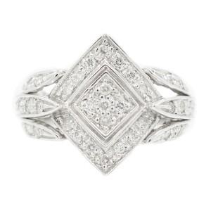 White White Gold Diamond Ring Size 7.5