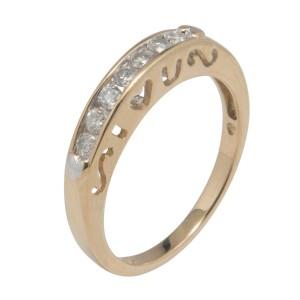 Yellow Gold Mens Wedding Ring Size 7