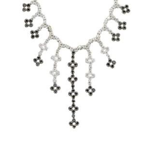 White White Gold Diamond Mens Necklace