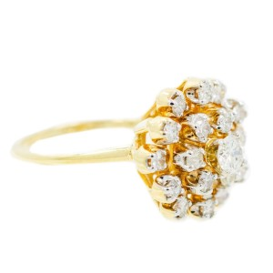 Yellow Gold Diamond Mens Ring Size 7