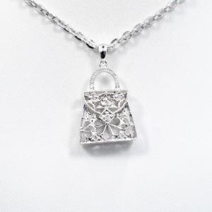 Diamond Little Purse Pendant 0.15Ct 14K White Gold 3.1 gram