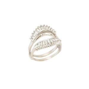 White White Gold Womens Ring Size 7.5
