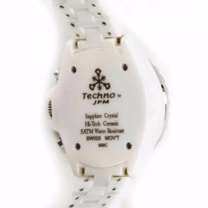 Techno JPM 868C White Ceramic & Diamonds Bezel 34mm Womens Watch