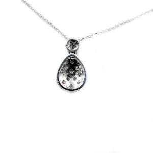 Diamond Tear Drop Pendant 0.15Ct Pave Setting