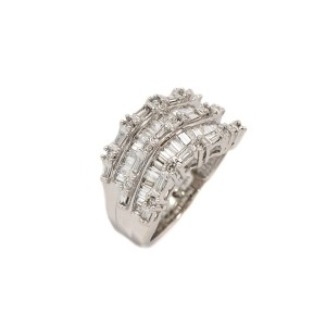 White White Gold Womens Ring Size 5