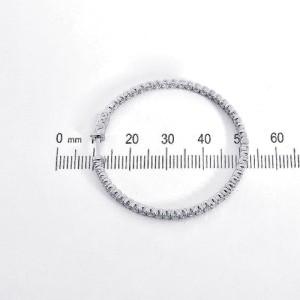 14K White Gold Eternity Inside Out 3.00 Ct Diamond Hoop Earrings