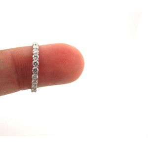 Tiffany & Co. Platinum Diamond Shared Setting Wedding Band Ring