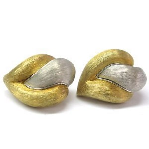Henry Dunay Platinum/18K Yellow Gold Huggie Earrings