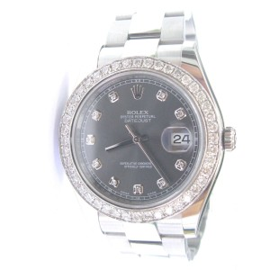 Rolex Datejust 116334 Rhodium Diamond Dial Stainless Steel Oyster Automatic Watch