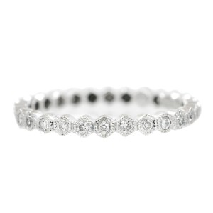 White White Gold Diamond Mens Ring Size 7.1