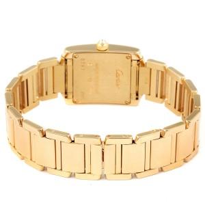 Cartier Tank Francaise Yellow Gold Diamond Ladies Watch WE1023R8