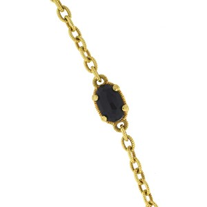 Yellow Gold Onyx, Diamond Womens Bracelet