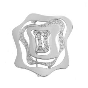 14K White Gold 0.82Ct Diamond H SI1 Brooch 11.2 Gr