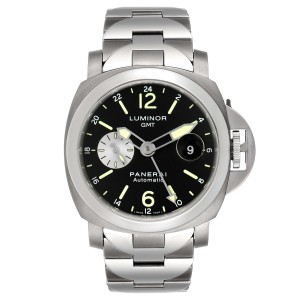 Panerai Luminor GMT Automatic Steel Mens Watch PAM00161 Box Papers