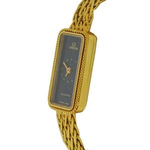 Omega Constellation 18K Yellow Gold Quartz Vintage 13mm Womens Watch
