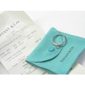 Tiffany & Co. PT950 Platinum with 0.40ct Solitaire Diamond Engagement Ring Size 7.25