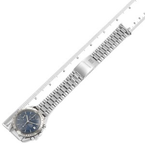 Omega Speedmaster Date Blue Dial Chronograph Mens Watch 3511.80.00
