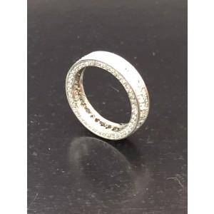 14K White Gold Diamond Ring Size 4.25