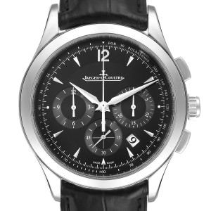 Jaeger Lecoultre Master Chronograph Mens Watch Q1538470 Box Papers