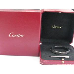 Cartier Love 18K White Gold Bracelet Size 20