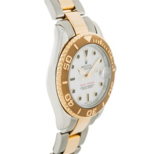 Rolex Yacht-Master 68623 Stainless Steel and 18K Yellow Gold White Dial Automatic 35mm Unisex Watch