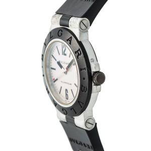 Bulgari Diagano AL 38 A  Automatic Cream Dial Rubber Band 38mm Mens Watch