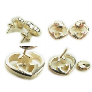 Gucci Sterling Silver Heart Earrings