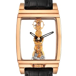Corum Golden Bridge Classic Rose Gold Skeleton Mens Watch B113/01043